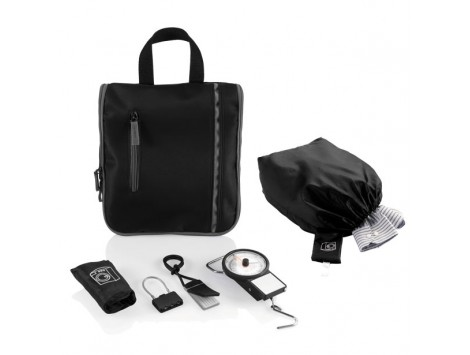 "SET da VIAGGIO ""CITY"" CON BEAUTY,SACCA P/ETYIC.,E BILANCIA BAG"