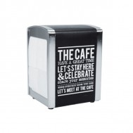 "DISPENSER PER TOVAGLIOLI ""THE CAFE"" IN METALLO"