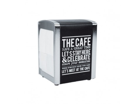 """DISPENSER PER TOVAGLIOLI """"THE CAFE"""" IN METALLO"""