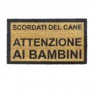 """ZERBINO """"SCORDATI DEL CANE, ATTENZIONE AI BAMBINI"""