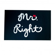 "TAPPETINO ""MR  RIGHT"" IN GOMMA E POLIESTERE"