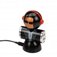"HUB USB 4 PORTE ""ROCKER"" CON TESTA BASCULANTE"