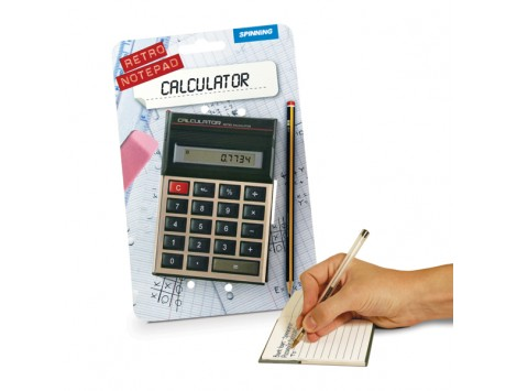 "BLOC NOTES ""CALCULATOR"" RETRO'"