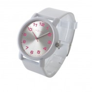 "OROLOGIO DA POLSO ""DASH WHITE"" IN PLASTICA RESISTENTE ALL'ACQUA"